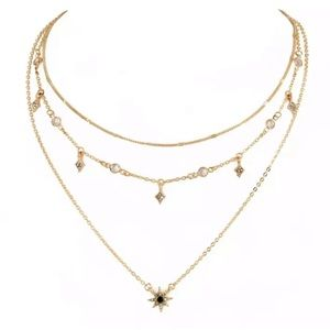 Jewelry - NEW! DAINTY STAR GOLD MULTILAYERED NECKLACE